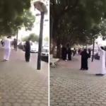 شاهد .. شاب وفتاة يرقصون في شارع الفن بأبها !
