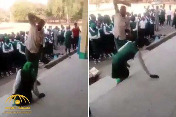 شاهد .. عقوبة التأخر عن الطابور في مدارس غانا !