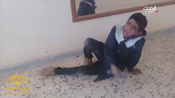 شاهد .. فيديو صادم لمعلم يعذب الطلاب في مدرسة ليبية