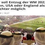 مصادر ألمانية : توقعات بنقل مونديال 2022 من قطر إلى إنجلترا أو أمريكا
