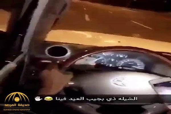 شاهد .. سائقون يتركون مقود السيارة ويرجعون للخلف عند سماع هذه الشيلة !