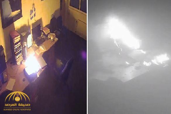 """شاهد: انفجار """"لابتوب"""" بسبب تركه متصلًا بالشاحن طوال الليل!"""