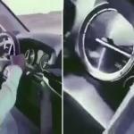 شاهد .. طفل يقود سيارة بسرعة تتعدى 200 كم