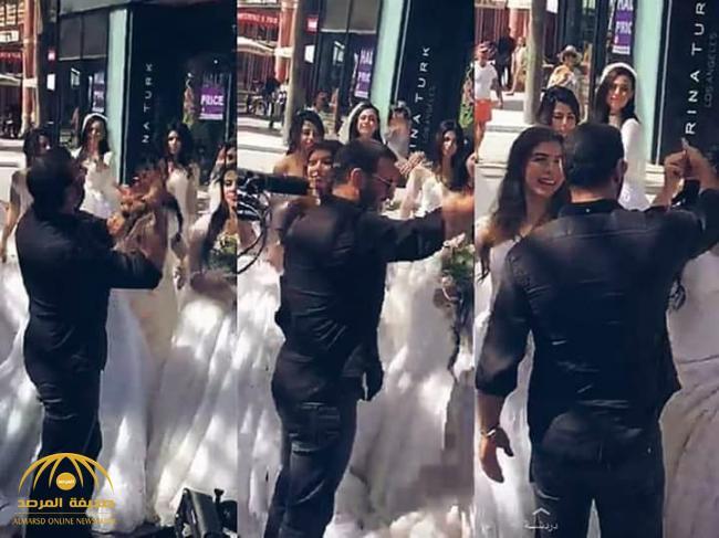"""على أنغام أغنية """"قولي أحبك"""" .. شاهد كاظم الساهر يحتفل بزفافه في الشارع"""