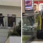 """شاهد.. لحظة انتحار """"نيجيري"""" أمام المسافرين داخل مطار أمريكي"""