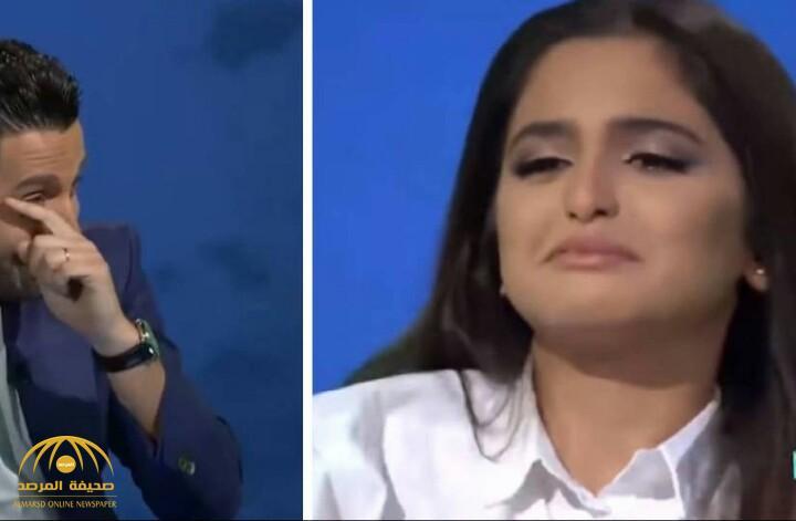 """بالفيديو.. مذيع يبكي """"حلا الترك"""" على الهواء!"""