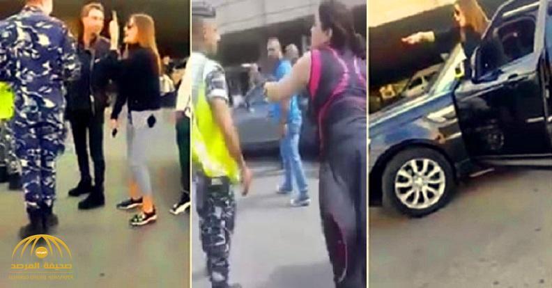 شاهد .. لبنانية تهدد قوى الأمن بمطار بيروت وأخرى تصفهم بالكلاب !