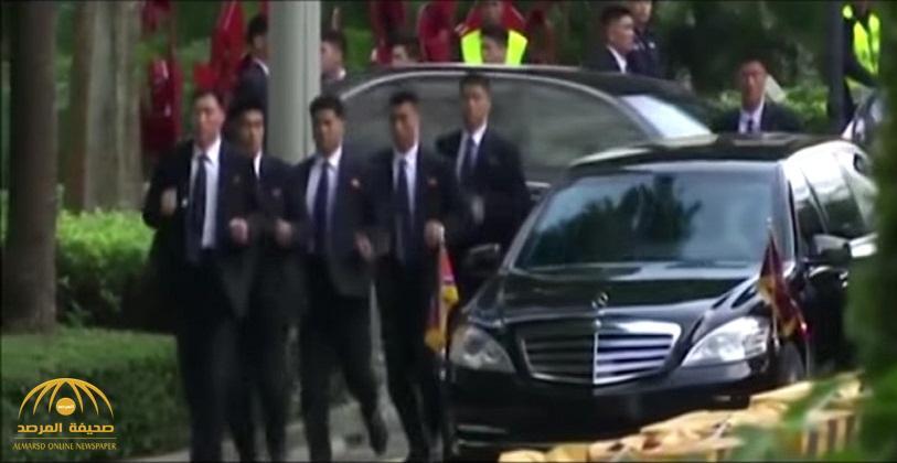 شاهد: حراس كيم جونغ أون يهرولون مجددا وراء زعيمهم في سنغافورة