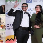 """شاهد.. أول ظهور للفنان """"أحمد الفيشاوي """" وزوجته في مهرجان الجونة السينمائي!"""
