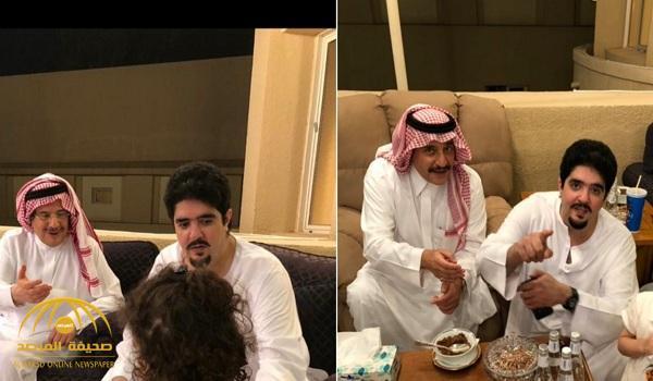 """شاهد .. """"نواف بن فيصل"""" ينشر فيديو وصور حديثة لعمه الأمير """"عبدالعزيز بن فهد"""""""