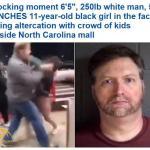 """شاهد: اعتداء وحشي من رجل أمريكي ضخم على  طفلة  """"سوداء"""" أمام  مركز تسوق بولاية كارولاينا!"""