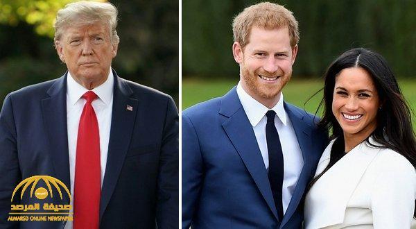 """""""هاري"""" يرد على """"ترامب"""" بعدما طالبه بدفع أموال مقابل حمايته وزوجته ميغان !"""