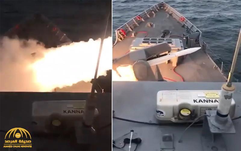 بينما يحارب العالم كورونا .. شاهد : سفينة حربية تركية تستهدف مدينة ليبية بصاروخ