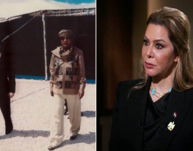 """شاهد: رغد صدام حسين تكشف موقفها ممن أعدموا والدها.. وتروي ما قاله لها """"القذافي"""" بعد موت أبيها"""