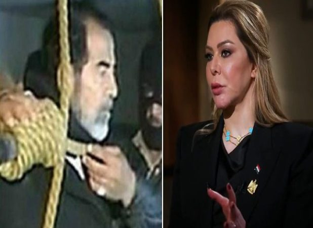 بالفيديو .. رد فعل رغد صدام حسين أثناء بث لحظة إعدام والدها شنقا