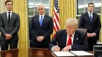 ترامب يرسم سياسة امريكا ويوقع أول الأوامر التنفيذية لإدارته