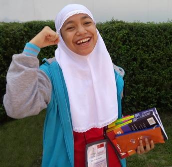 ANAK CERDAS: Irdya Pravieta Waridati meraih nilai tertinggi se-Kota Malang.