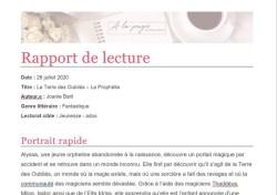 Rapport de lecture - Coach littéraire