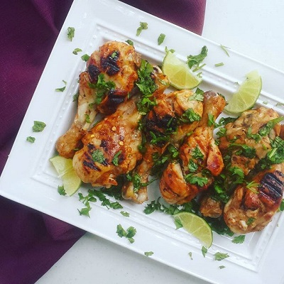 sweet and spicy grilled drumsticks