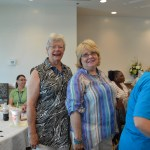 AALECE President, Mary Sibert Davis, pictured with Judy Davidson, AALECE member.