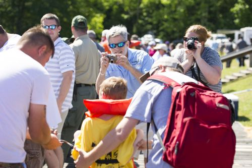 Capturing candids at Gone Fishin', Not Just Wishin' (contributed)