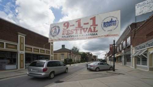 First 911 call made in Haleyville, Al. where 911 festival is held each year. Photo courtesy of Bernard Troncale.