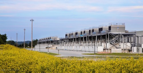 Google's data center in Council Bluffs, Iowa, is one of 13 such facilities operated by the technology giant.