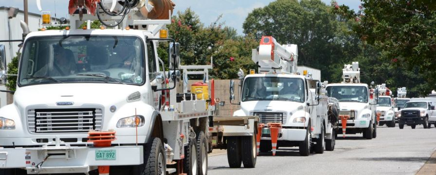 Alabama Power crews prepare for storm restoration duty. (file)