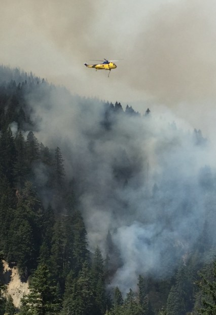 Chopper flies over Lassic Fire in Northern California. (contributed)