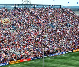 Legion Field's east stands were packed with soccer fans. (Solomon Crenshaw Jr./Alabama NewsCenter)