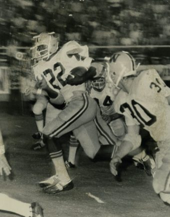 Tony Nathan (22) breaks away for a long run. (contributed)