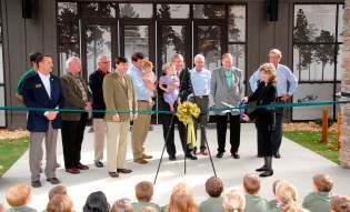 Officials cut the ribbon at the grand opening of the NaturePlex. (Billy Brown/Alabama NewsCenter)