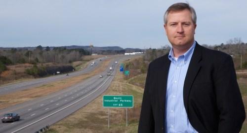 David Knight, executive director of the Walker County Development Authority, knows Interstate 22 will bring new economic development to Jasper. (Arik Sokol/Made In Alabama)