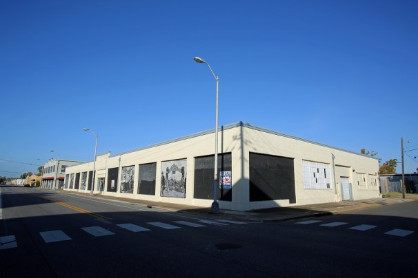 Precision Engineering Inc.'s future office, a former car dealership at 400 St. Louis Street, in downtown Mobile. (Mike Kittrell/Alabama NewsCenter)