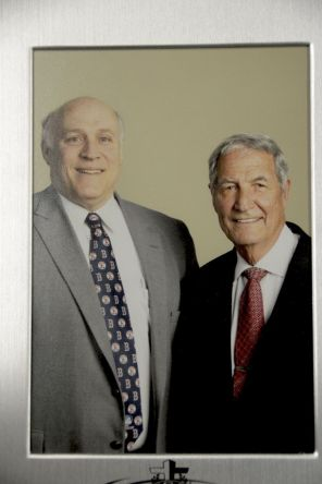 Baker is joined by former Alabama Crimson Tide head football coach Gene Stallings.