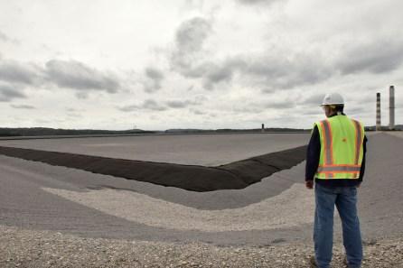 A new coal ash pond is under construction at an Alabama Power plant. (Christopher Jones/Alabama NewsCenter)