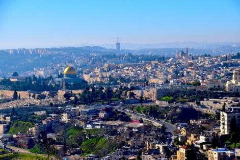 Jerusalem is not without its Crimson Tide fans. (Karim Shamsi-Basha/Alabama NewsCenter)