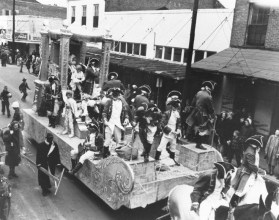 Undated photo of a Mardi Gras parade in Mobile, Ala. (History Museum of Mobile)