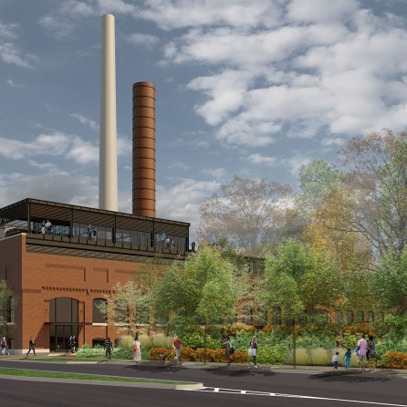 Initial concepts envision what Powell Avenue Steam Plant can become. (Birchfield Penuel & Associates)