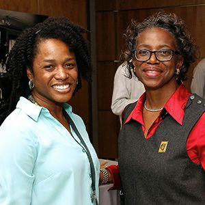 UAB Adult Sickle Cell Clinic Director Rita Paschal, M.D., and Foundation Board Member Printella Thomas, M.D.
