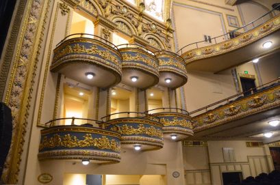 The Lyric Theatre's gold-painted plaster cherubs were beautifully restored. (File)