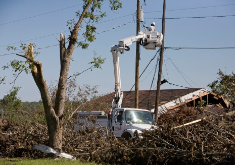 Southern Co. crews work to restore service in Alabama communities following the deadly tornadoes of April 27, 2011.