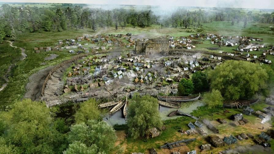 CGI reconstruction graphics depicting a Viking camp. (Compost Creative)