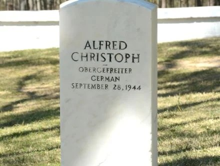 The resting place of POW Alfred Cristoph. (Karim Shamshi-Basha/Alabama NewsCenter)