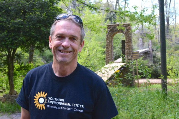 Roald Hazelhoff, director of the Southern Environmental Center at Birmingham-Southern College, is instrumental in keeping the wonders of Turkey Creek Nature Preserve available for the people of Alabama to enjoy. (Karim Shamsi-Basha)