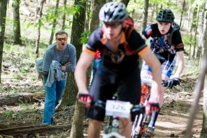 Student cyclists compete at Oak Mountain State Park. (Nik Layman/Alabama NewsCenter)
