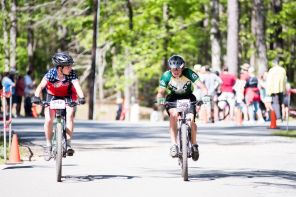 Student cyclists compete at Oak Mountain State Park. (Nik Layman/Alabama NewsCenter)