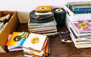 Stacks of 45s at Seasick Records in Birmingham. (Jaysen Michael/Secret Playground)