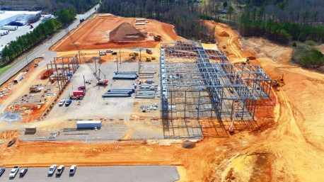 Construction has progressed even beyond this point on the Kamtek $80 million casting plant. (contributed)