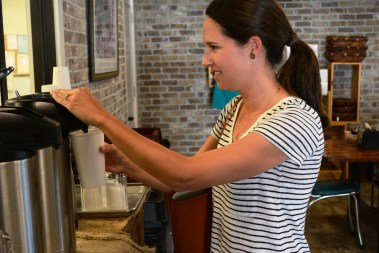 Fairhope Roasting Co. is attached to Warhouse Bakery and Donuts where the coffee is also served. (Karim Shamsi-Basha/Alabama NewsCenter)